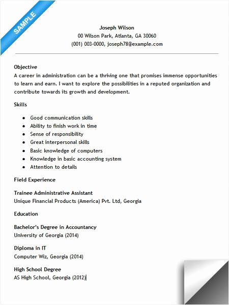 Entry Level Administrative assistant Resume Awesome Entry Level Administrative assistant Resume