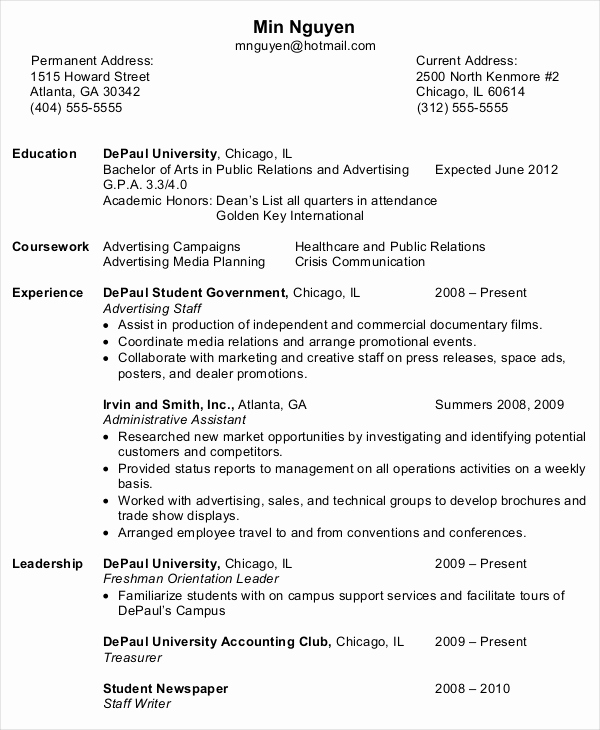 Entry Level Administrative assistant Resume Lovely 10 Entry Level Administrative assistant Resume Templates