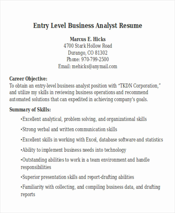 Entry Level Business Analyst Resume Awesome 20 Modern Business Resume Templates Pdf Doc