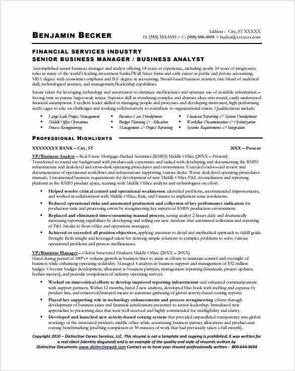 business analyst resume example sample canada