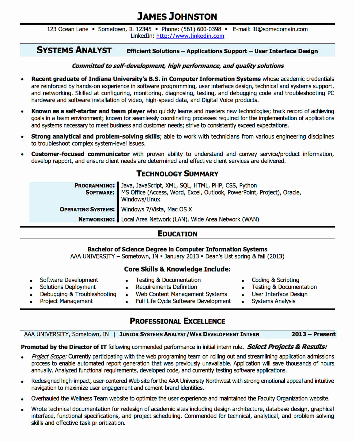 Entry Level Business Analyst Resume Unique Resume Examples Cv Sample Resume Templates