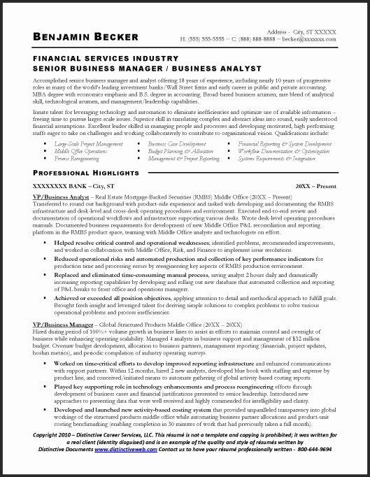 Entry Level Business Analyst Resume Unique Senior Business Analyst Resume
