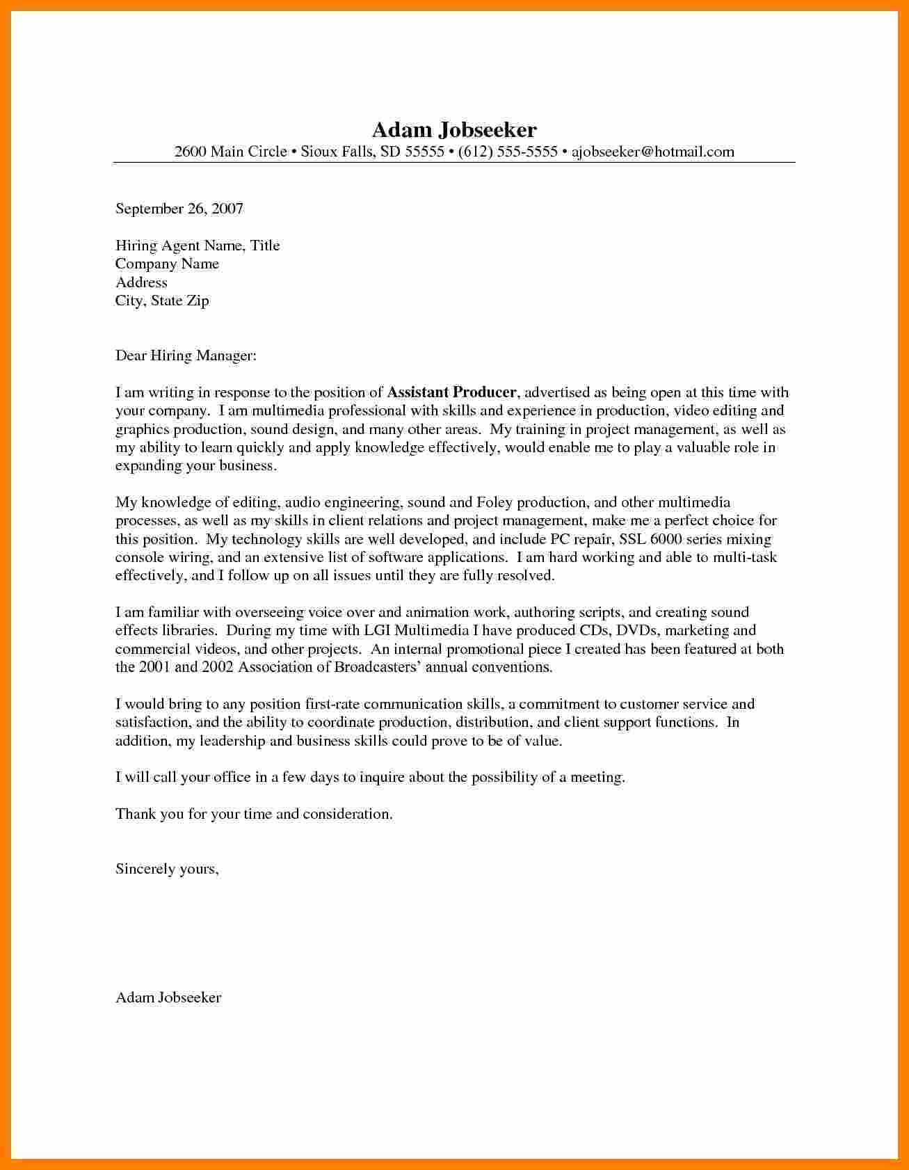 Entry Level Cover Letter Examples Awesome 7 Entry Level Engineering Cover Letter