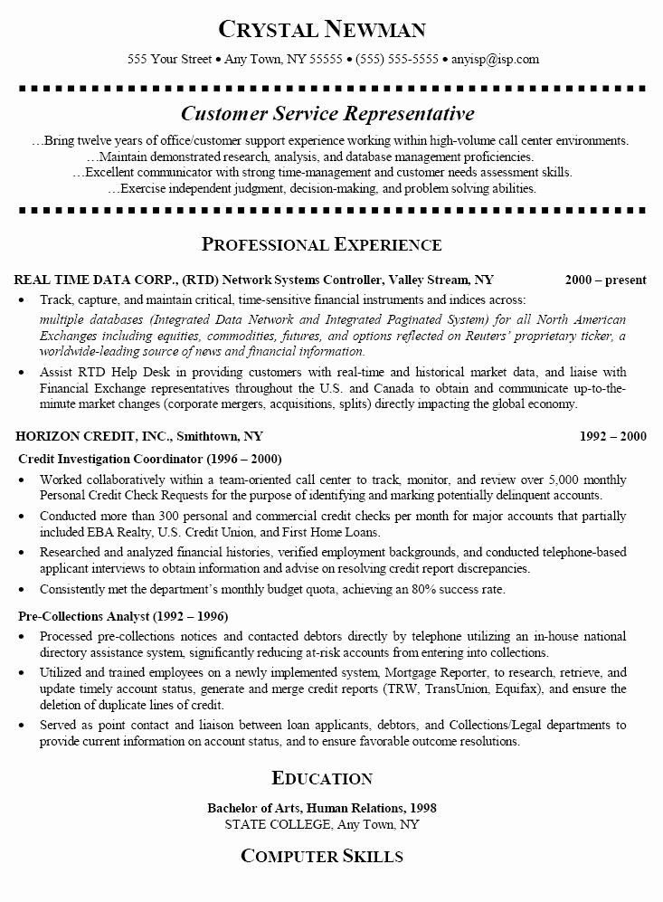 Entry Level Customer Service Resume Best Of 15 Best Images About Resume On Pinterest