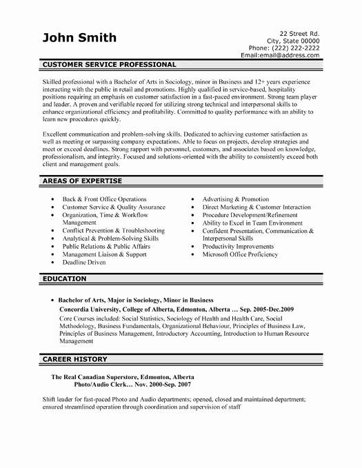 Entry Level Customer Service Resume Fresh Here to Download This Customer Service Professional