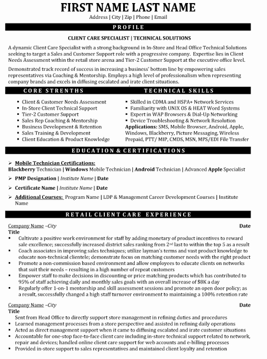 Entry Level Customer Service Resume Fresh top Customer Service Resume Templates & Samples