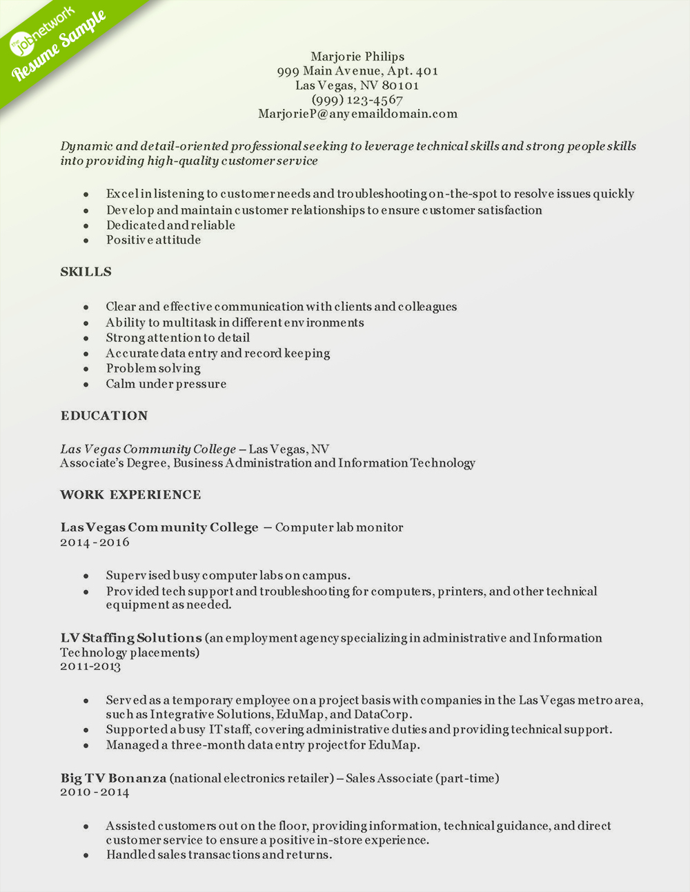 Entry Level Customer Service Resume Lovely How to Craft A Perfect Customer Service Resume Using Examples