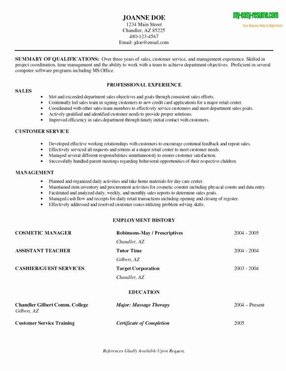 Entry Level Customer Service Resume New Entry Level Resume Sample Functional Resume