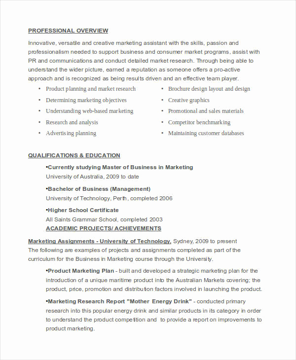 Entry Level Marketing Resume Best Of 40 Basic Marketing Resume