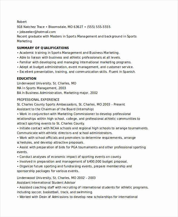 Entry Level Marketing Resume Best Of Marketing Major Resume Resume Sample