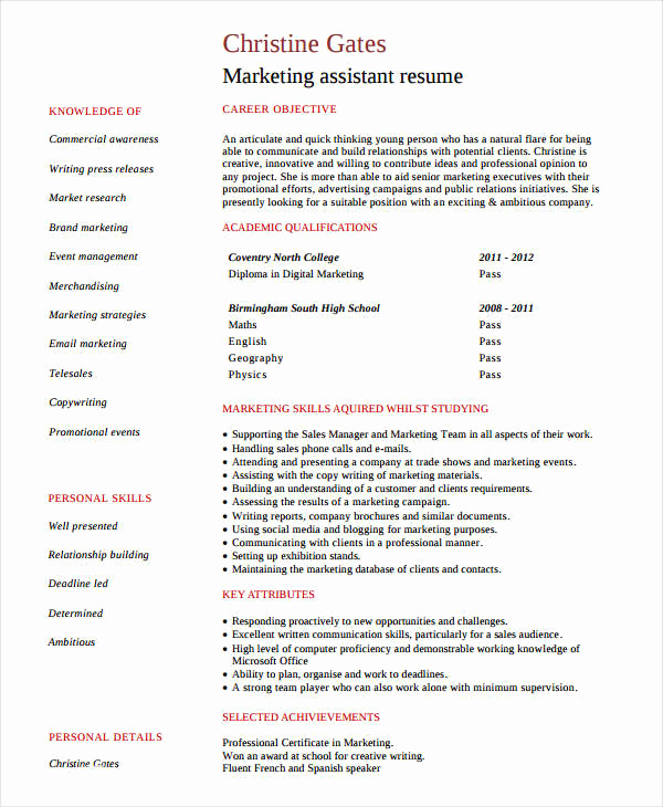 Entry Level Marketing Resume Luxury Marketing Resume Examples 47 Free Word Pdf Documents