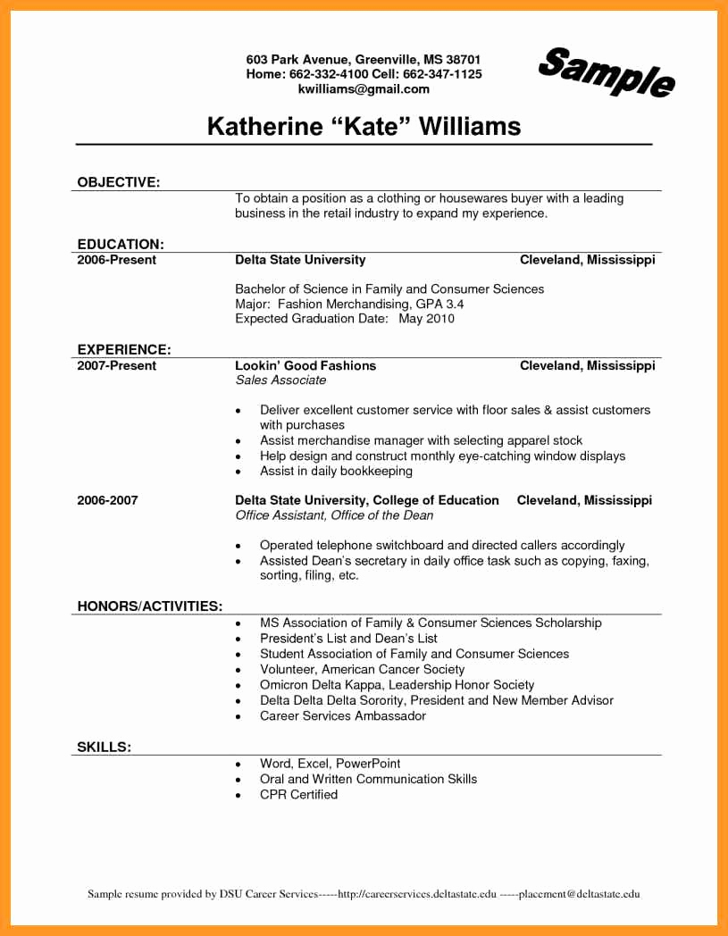 Entry Level Resume No Experience Beautiful Sales associate Resume No Experience