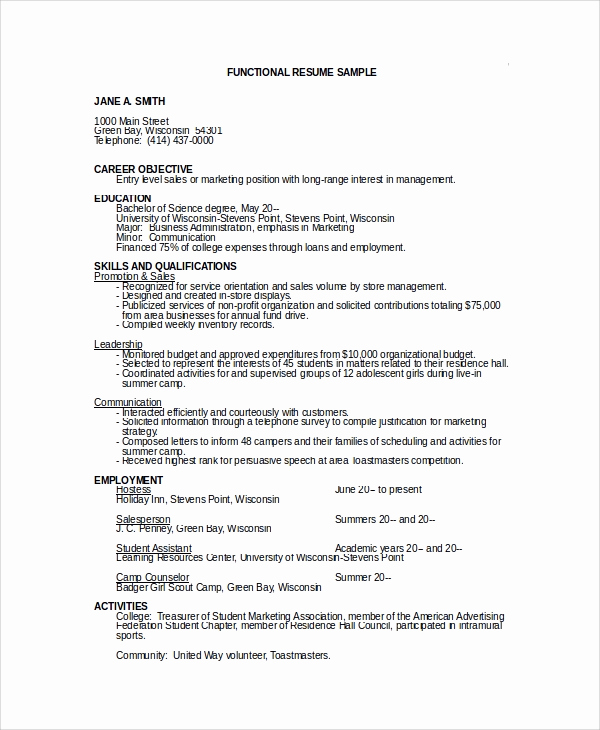 Entry Level Sales Resume Best Of 10 Sample Objectives for Resume