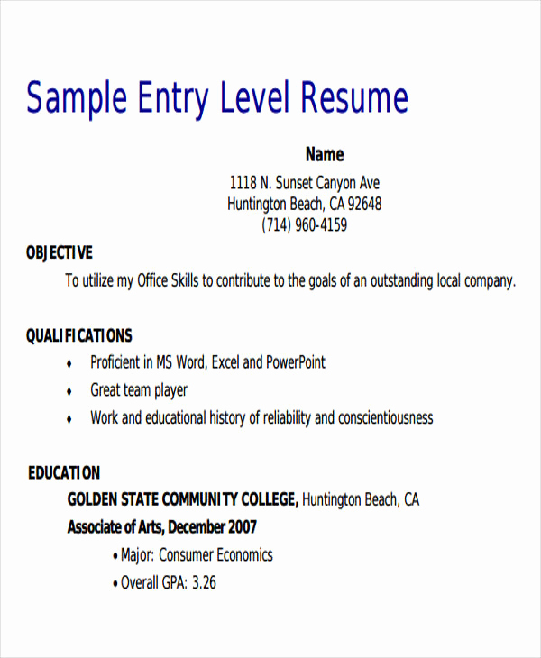 Entry Level Sales Resume Inspirational 18 Sales Resume Templates In Pdf