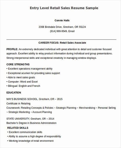 Entry Level Sales Resume Unique Sells Yourself Through Great Salesperson Resume