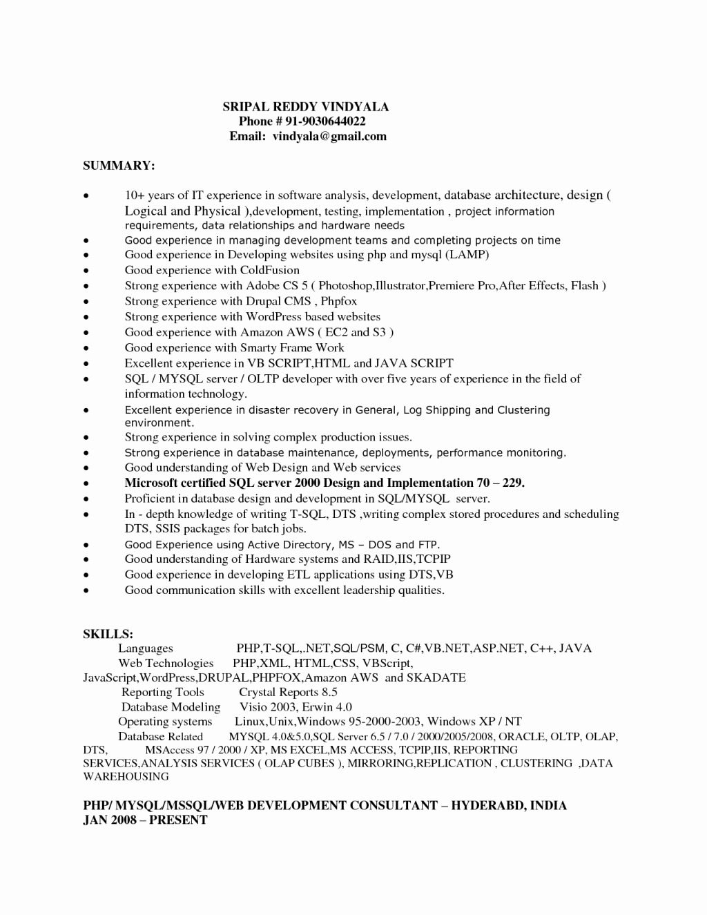 Entry Level Web Developer Resume Inspirational 4 5 Web Developer Cover Letter