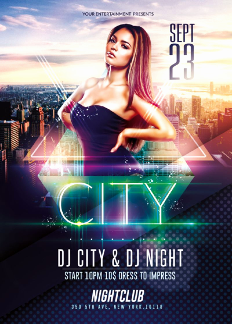 Event Flyer Templates Free Fresh Elegant City event