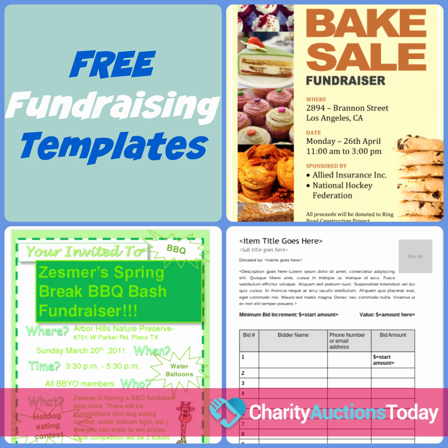 Event Flyer Templates Free Lovely Free Fundraiser Flyer