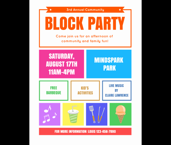 Event Flyer Templates Free Unique Download This Block Party Flyer Template and Other Free