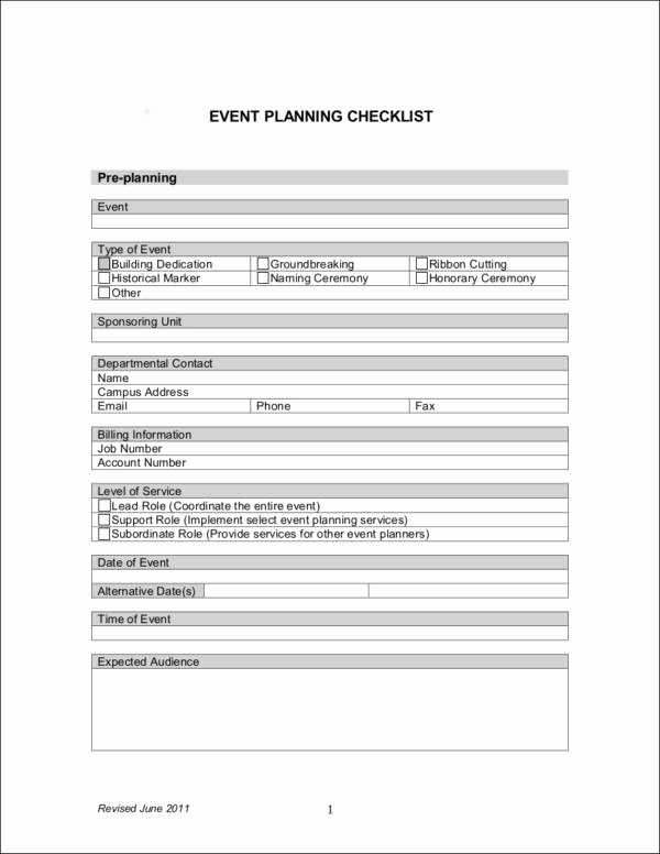 Event Planning Checklist Template Awesome 11 event Planning Checklist Ideas Samples & Templates