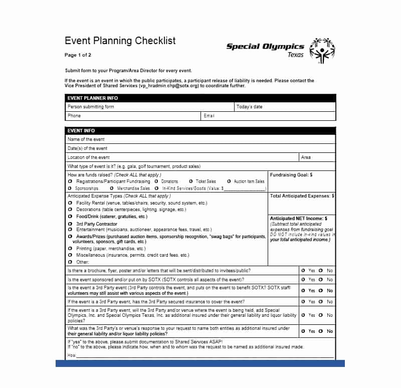 Event Planning Checklist Template Lovely 50 Professional event Planning Checklist Templates