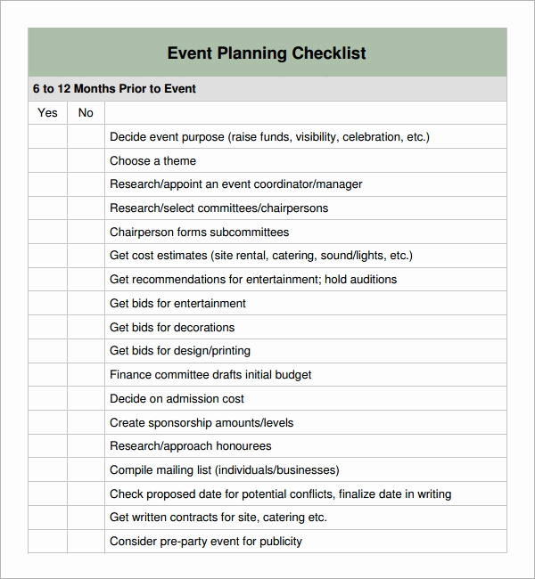 Event Planning Checklist Template Luxury 11 Sample event Planning Checklists Pdf Word