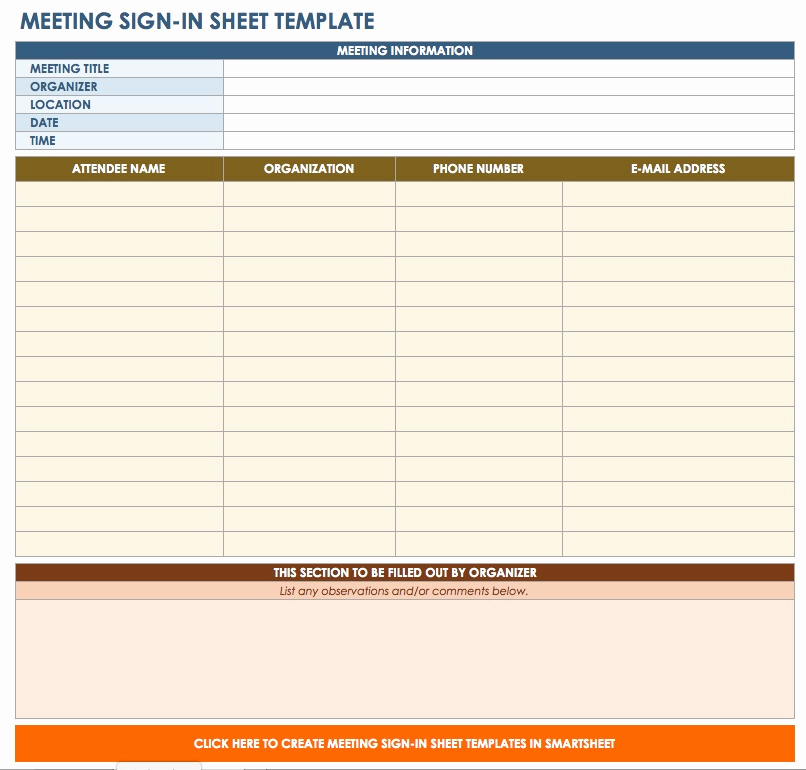 free sign and sign sheet templates