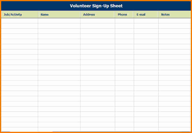 Event Sign In Sheet Fresh event Sign In Sheet Template