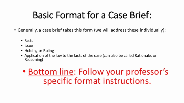 Example Of A Case Brief Lovely How to Brief A Legal Case