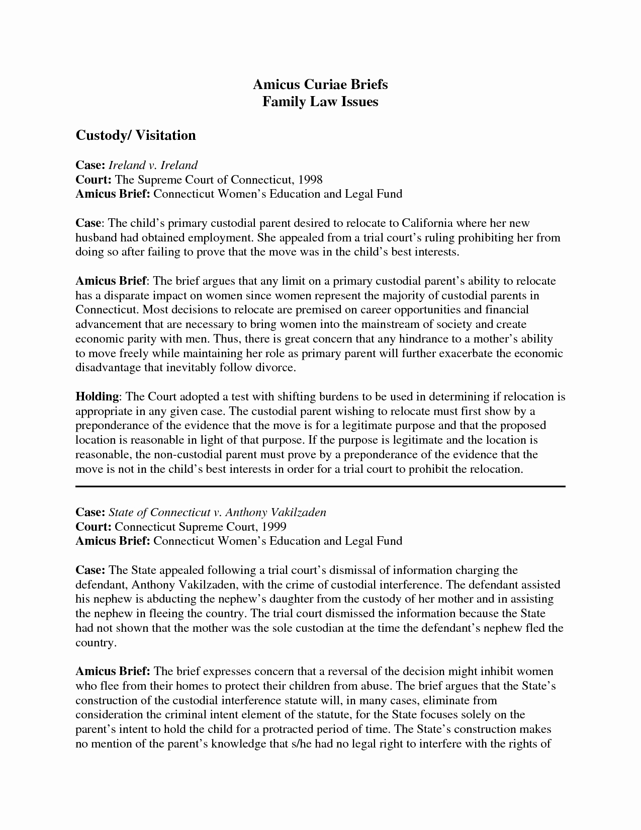 Example Of A Case Brief Luxury Case Brief Template