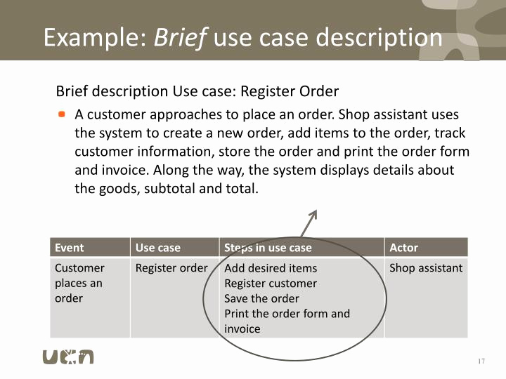 Example Of A Case Brief Luxury Ppt Requirements Functional Requirements Use Cases