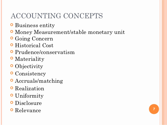 Example Of A Concept Luxury Accounting Concepts and Principles with Examples