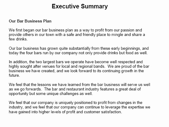 Example Of An Executive Summary Elegant Executive Summary Sample
