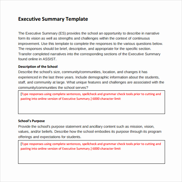 Example Of An Executive Summary Inspirational Sample Executive Summary Template 8 Documents In Pdf