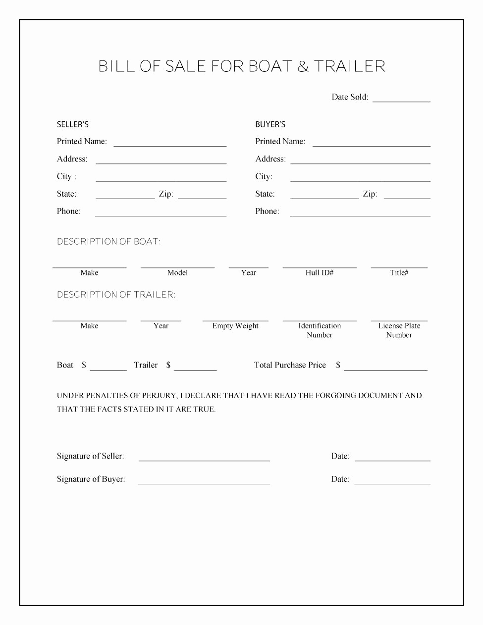 Example Of Bill Of Sale Best Of 45 Fee Printable Bill Of Sale Templates Car Boat Gun