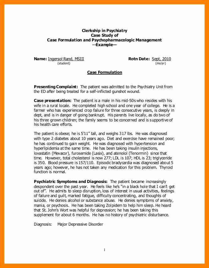 Example Of Case Study Beautiful 15 Case Study Report Example