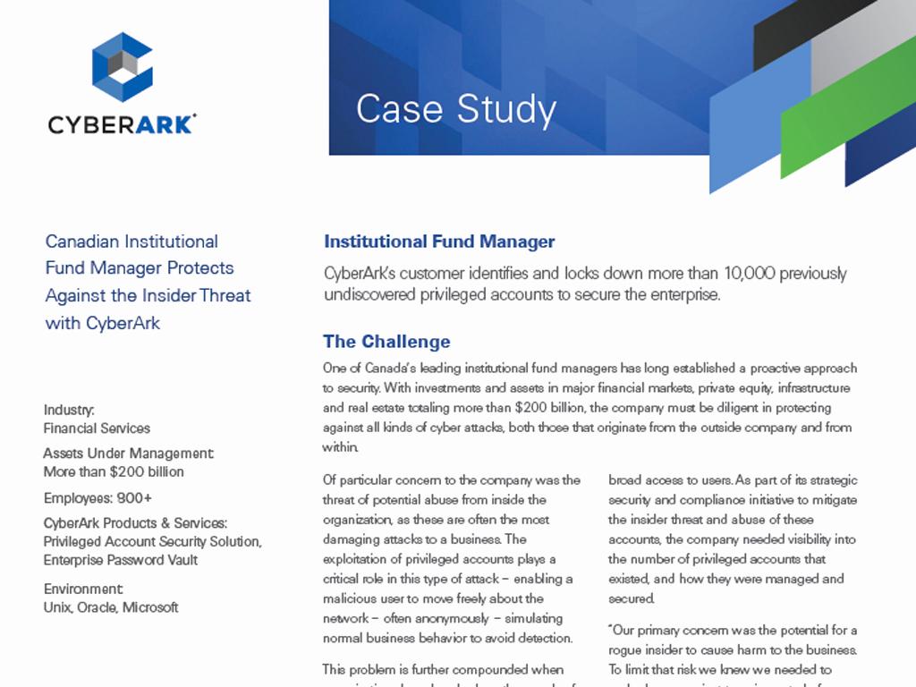 Example Of Case Study Elegant Resource Type Case Study Cyberark
