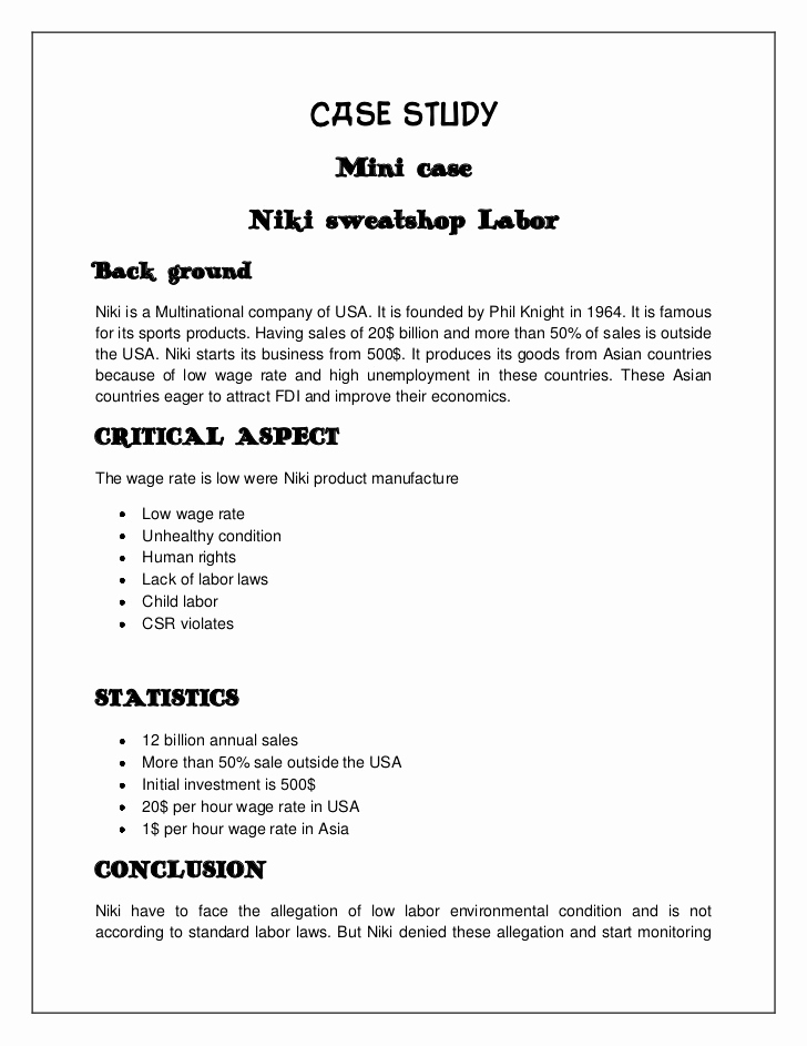 Example Of Case Study Fresh Writing A Case Study sociology