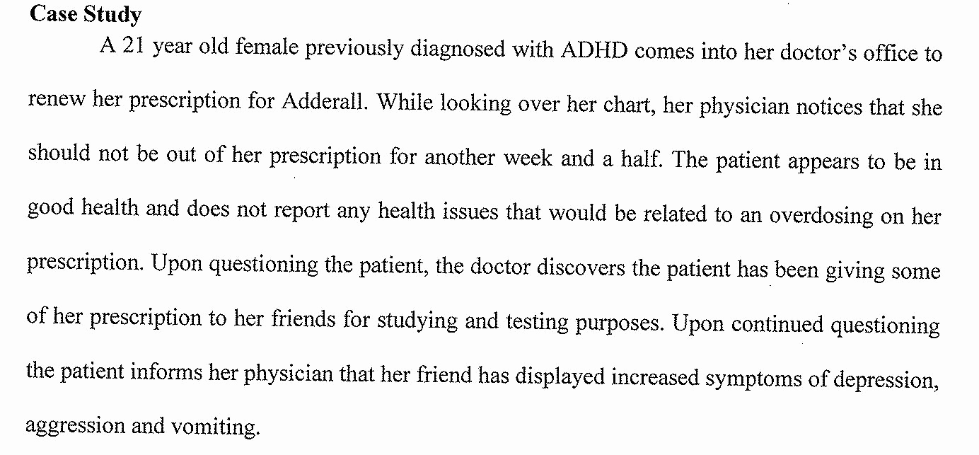 Example Of Case Study Luxury Writing and Speaking for Premeds Cme Plan