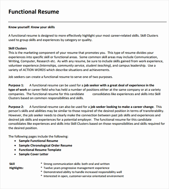 Example Of Functional Resume Awesome 9 Functional Resume Templates – Samples Examples