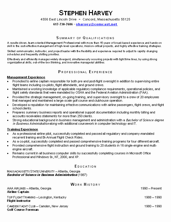Example Of Functional Resume Inspirational Resume Examples