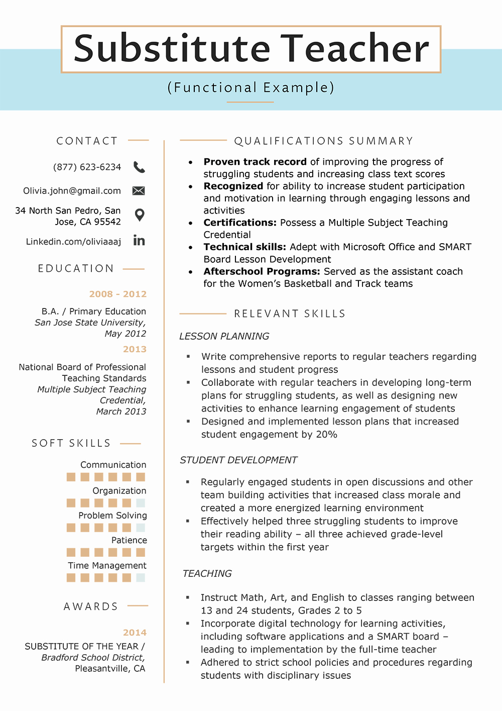 Example Of Functional Resume New the Functional Resume Template Examples & Writing Guide