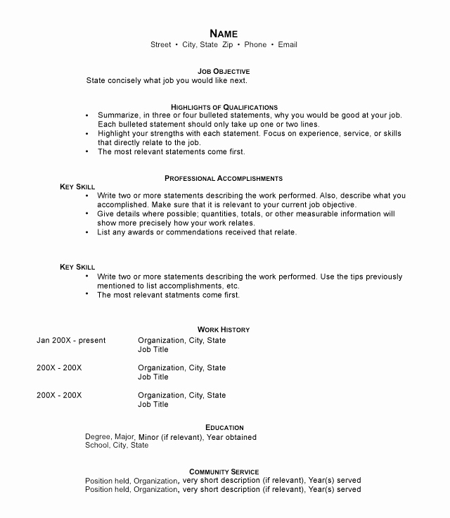 Example Of Functional Resume Unique Functional Resumes Sample Templates and Examples