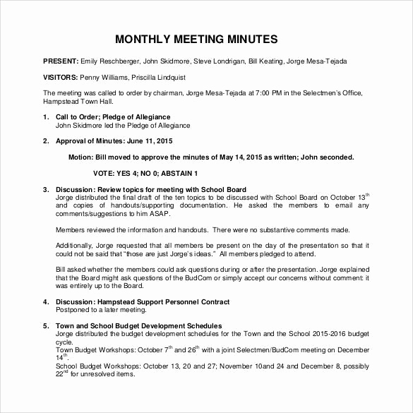 Example Of Meeting Minutes Luxury 44 Sample Meeting Minutes Template Google Docs Apple
