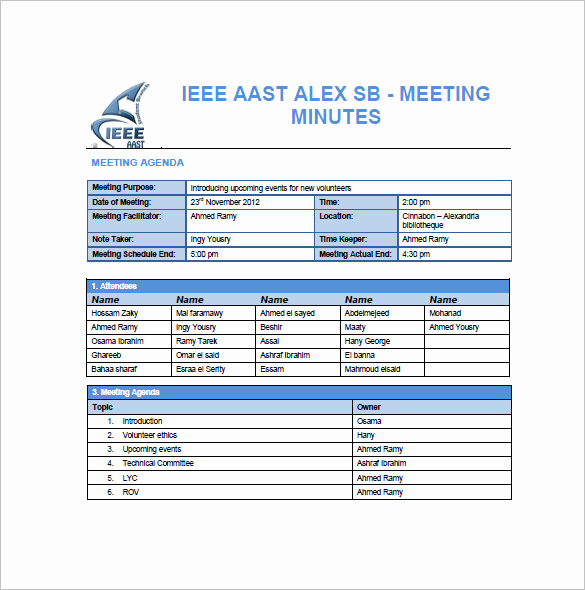 Example Of Meeting Minutes New Project Meeting Minutes Template 12 Sample Word Apple