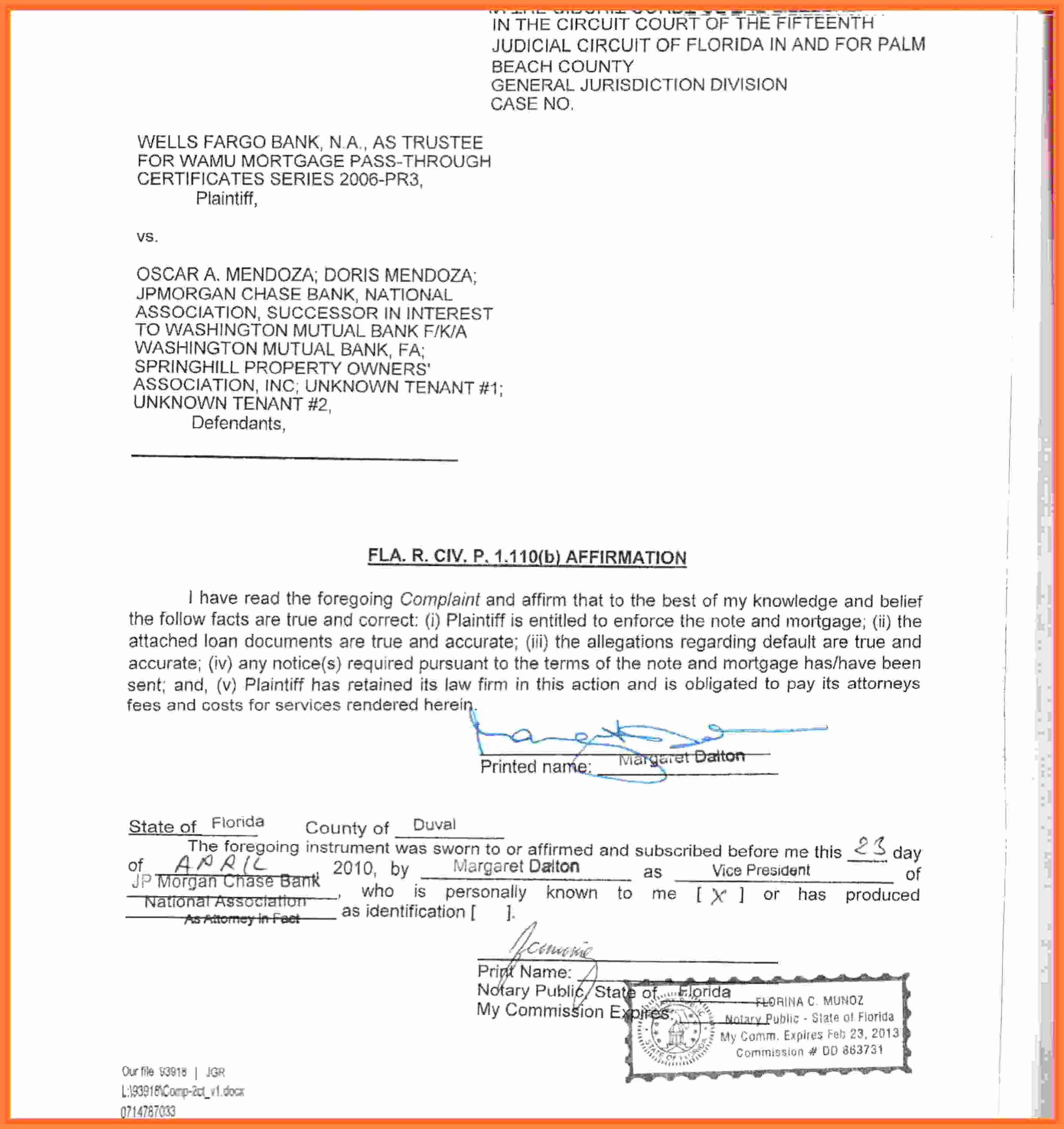 Example Of Notarized Document Awesome 6 Notary Statement Sample