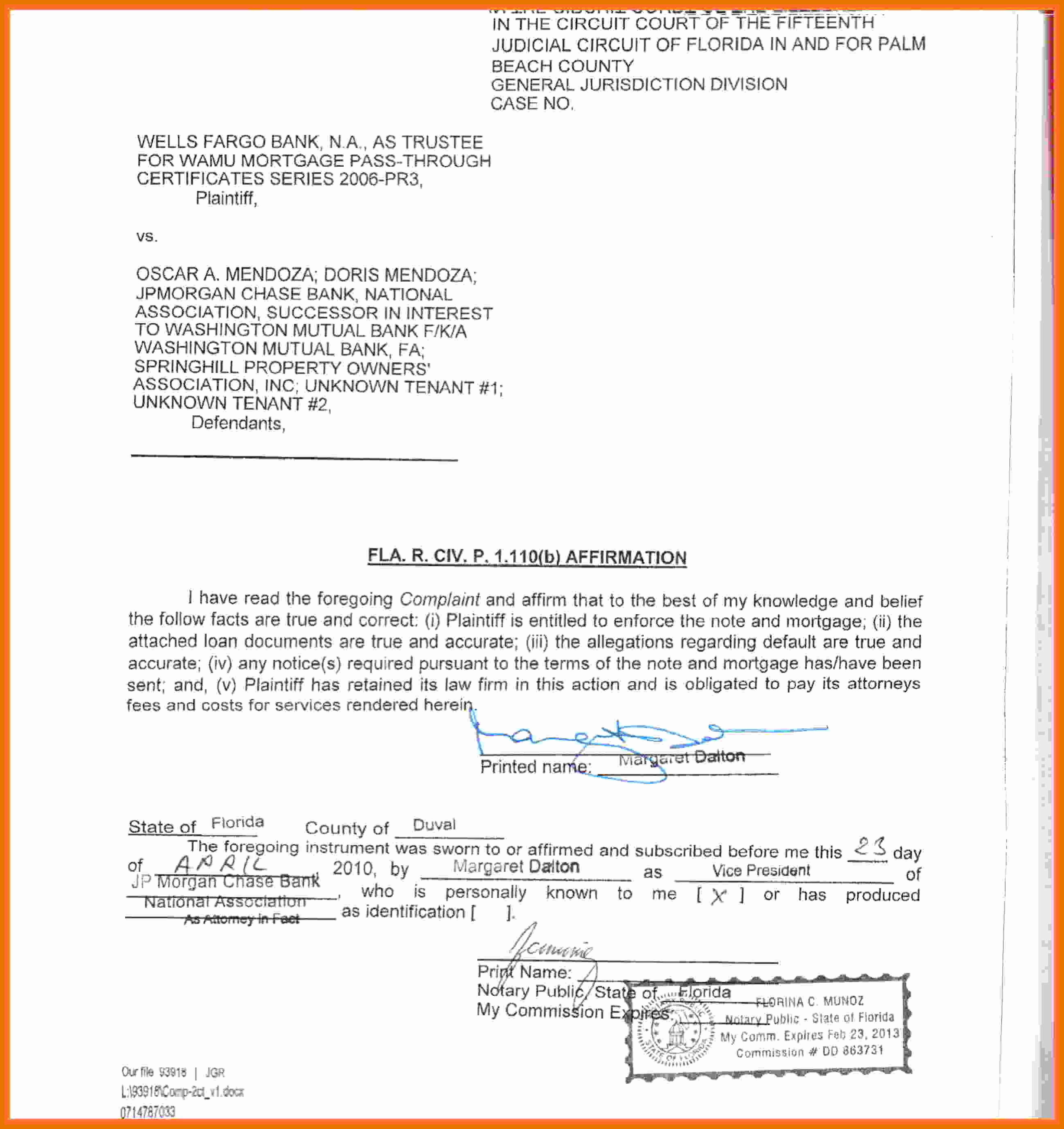 Example Of Notarized Document New 10 11 Notary Examples