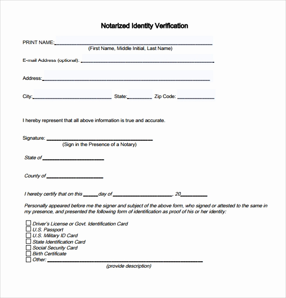 Example Of Notarized Document New 10 Sample Notarized Letters Pdf Word