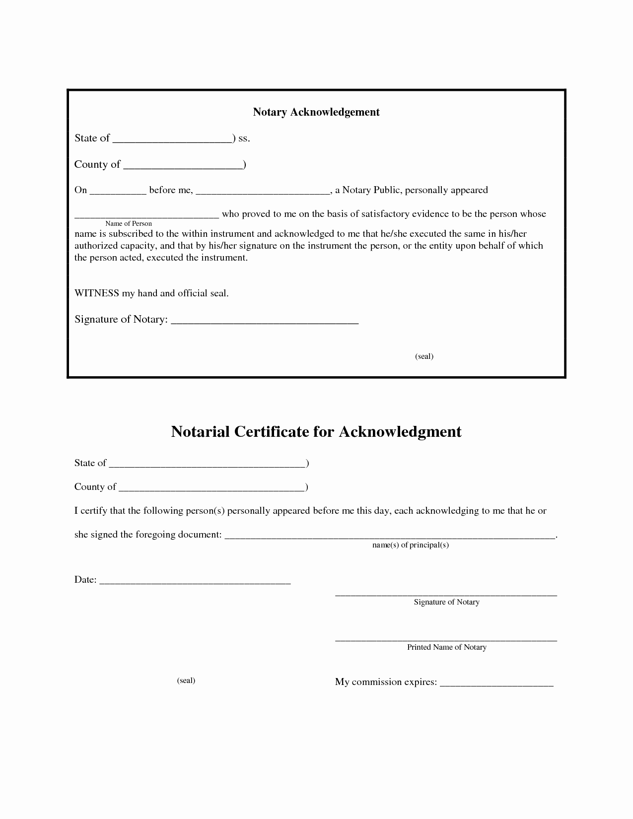 Example Of Notarized Document New 12 Best S Of Jurat form 2012 Florida Notary