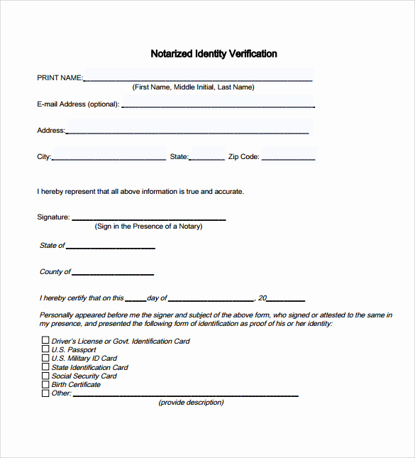 Example Of Notarized Document New 9 Sample Notary Statements Free Sample Example format